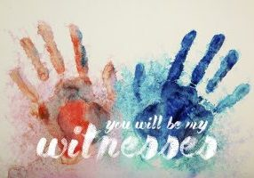 hand print with aquarel watercolors on the paper. my hands b.t.w.